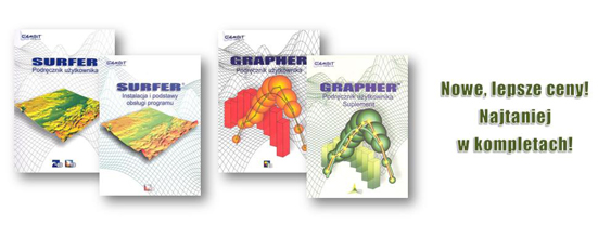 Książki do programu Surfer oraz Grapher