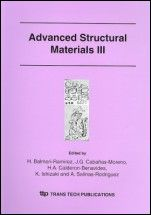 Advanced Structural Materials III - ISBN 9780878494460