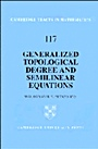 Generalized Topological Degree and Semilinear Equations - ISBN 9780521444743