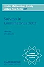 Surveys in Combinatorics 2003 - ISBN 9780521540124