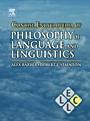Concise Encyclopedia of Philosophy of Language and Linguistics - ISBN 9780080965000
