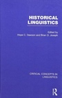 Historical Linguistics - ISBN 9780415454438