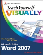 Teach Yourself VISUALLY Word 2007 - ISBN 9780470045930