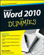 Word 2010 For Dummies - ISBN 9780470487723