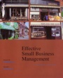 Effective Small Business Management - ISBN 9780470003435