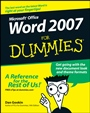 Word 2007 For Dummies - ISBN 9780470036587