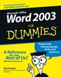 Word 2003 For Dummies - ISBN 9780764539824