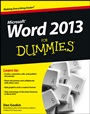 Word 2013 For Dummies - ISBN 9781118491232