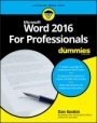 Word 2016 For Professionals For Dummies - ISBN 9781119286042